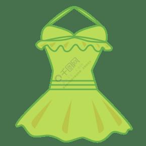 绿色花边泳衣插图