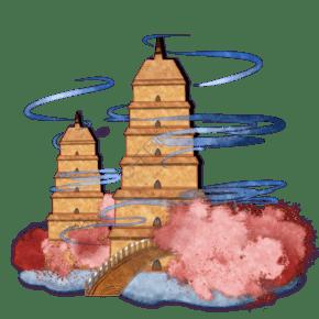 中国古建塔装饰图
