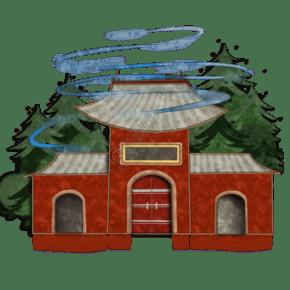 建筑景点故宫装饰图