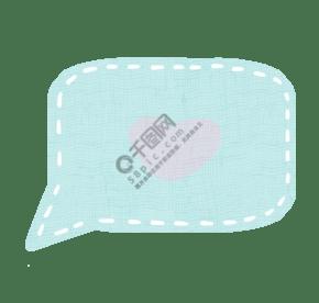 粉绿色爱心小清新对话框