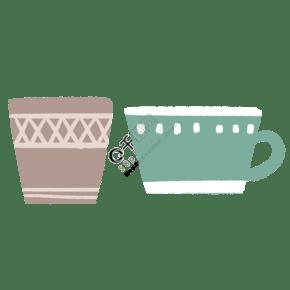 卡通水杯产品插画