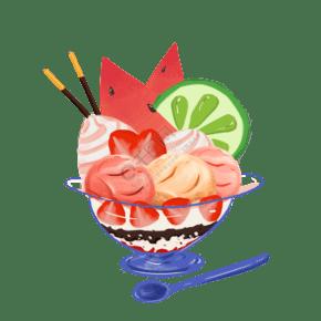 新鮮的水果糕點免摳圖