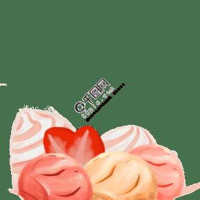 彩色的冰淇淋免摳圖
