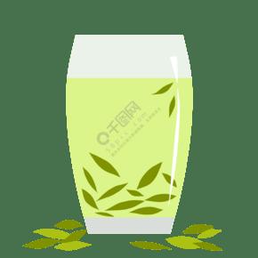 一杯绿茶装饰插画