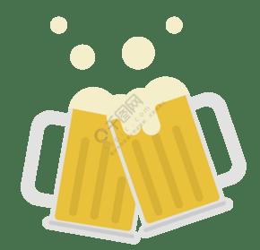 碰杯的啤酒杯插畫