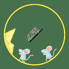 小老鼠裝飾邊框