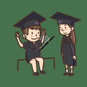 毕业啦怀念青春手绘