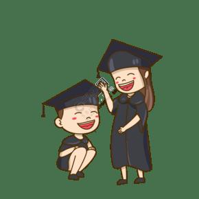 毕业啦毕业季手绘