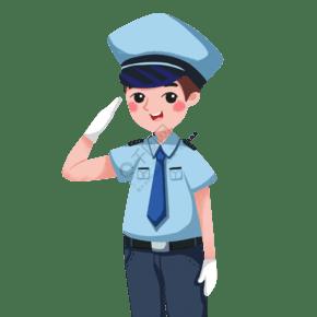 卡通警察PNG下載