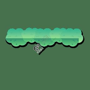 绿色花边装饰