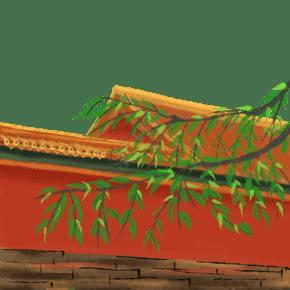 故宫墙面手绘装饰图