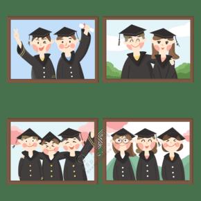 毕业季毕业照朋友同学兄弟闺蜜合影