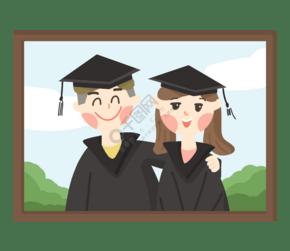 毕业季毕业照情侣同学