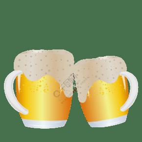 倆杯啤酒碰杯