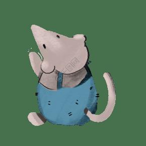 一只小老鼠可愛極了
