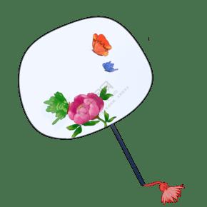 夏日古典圆扇芍药