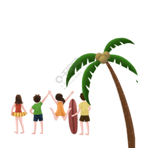 绿色的椰树免抠图