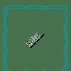 精美的绿色卡通边框