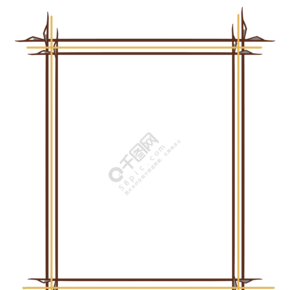 木質邊框卡通插畫