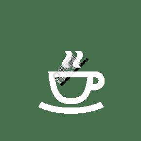 白色的咖啡圖標免摳圖
