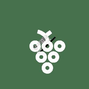 白色的葡萄免摳圖