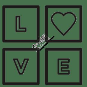 情人節創意圖標我愛你免摳圖