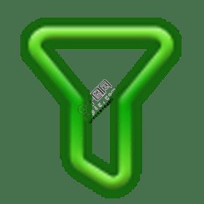绿色的手电筒图标