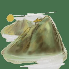 古风山峰云海和日出