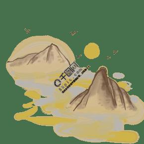 中国风古风山上的日出