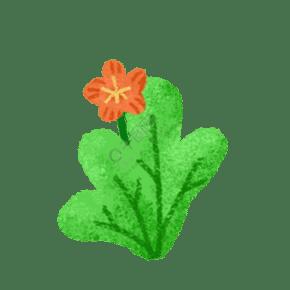 手绘卡通驴鞭的花朵免扣元素