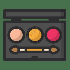 彩色创意手绘化妆盒子元素