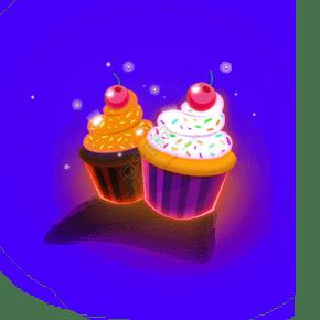 二個美味的蛋糕免摳圖