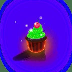 綠色的蛋糕免摳圖