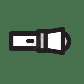 扁平化手电筒