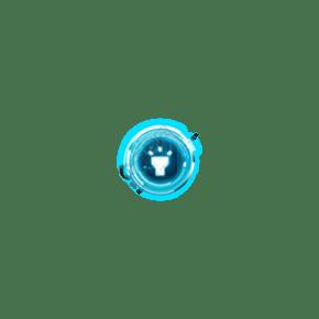 蓝色荧光照明图标素材