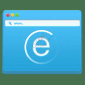 藍色瀏覽器