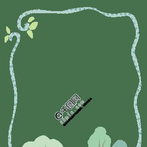 小树林绿色边框