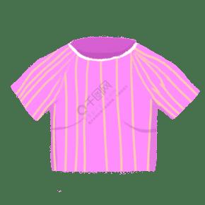 卡通紫色短袖