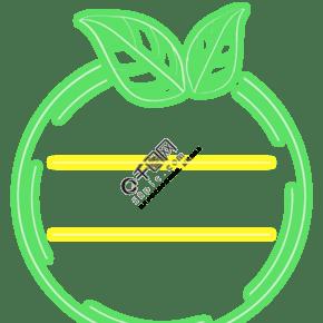 春天绿色发光文本框