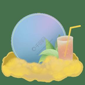 夏季果汁文字框