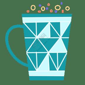 綠色簡約杯具設計