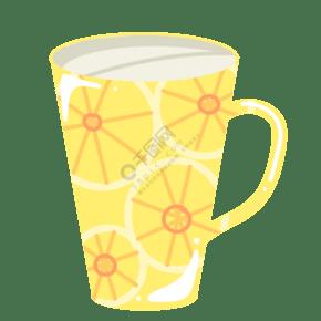 黃色檸檬杯子設計