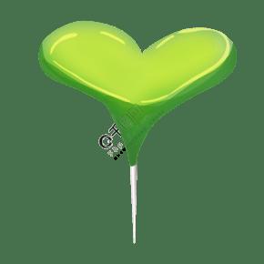绿色爱心图钉