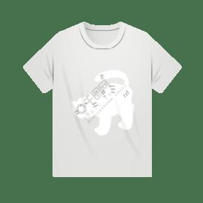 白色卡通T恤衫