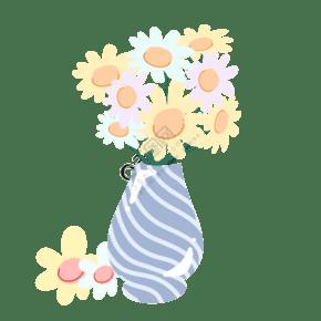 淡黄色洋甘菊盆景