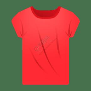 红色卡通T恤衫