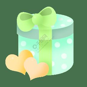 绿色圆形生日礼物