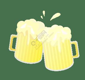 碰杯喝酒圖案插圖