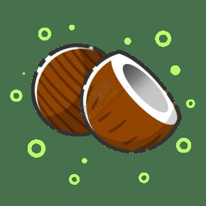 切開熱帶椰子
