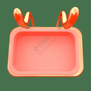 粉色电商文本框装饰